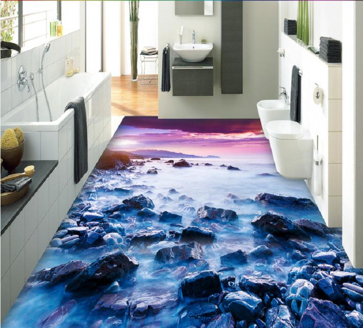 High Quality Pvc Self Adhesive Material 3d Floor Sticker Murals