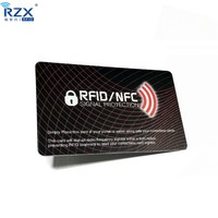 0.9mm / 1.2mm thickness Anti Skimming NFC Blocker / Anti Hacked RFID Scan Blocking Card