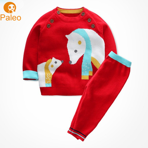 Factory Custom 100% cotton clothing Baby sweater design Hand Knitted Sweaters