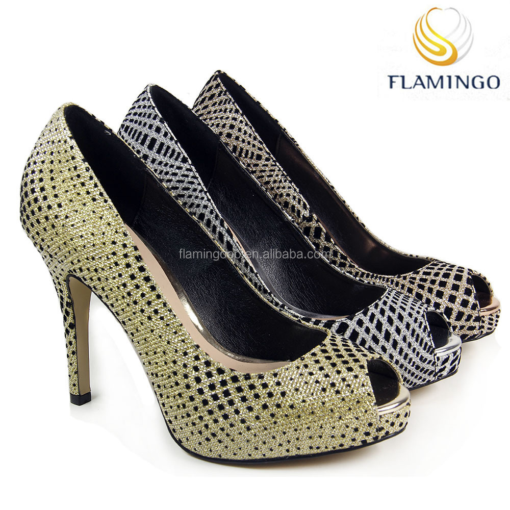 FLAMINGO 2017 LATEST ODM OEM High with crystal wedding and Fine with ladies high heel shoes