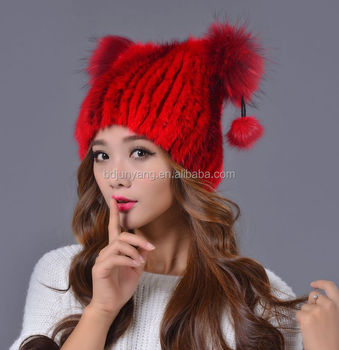 Waterproof Ushanka Beaver Rabbit Fur Russian Style Fur Hat For Women ... 2d07358c948