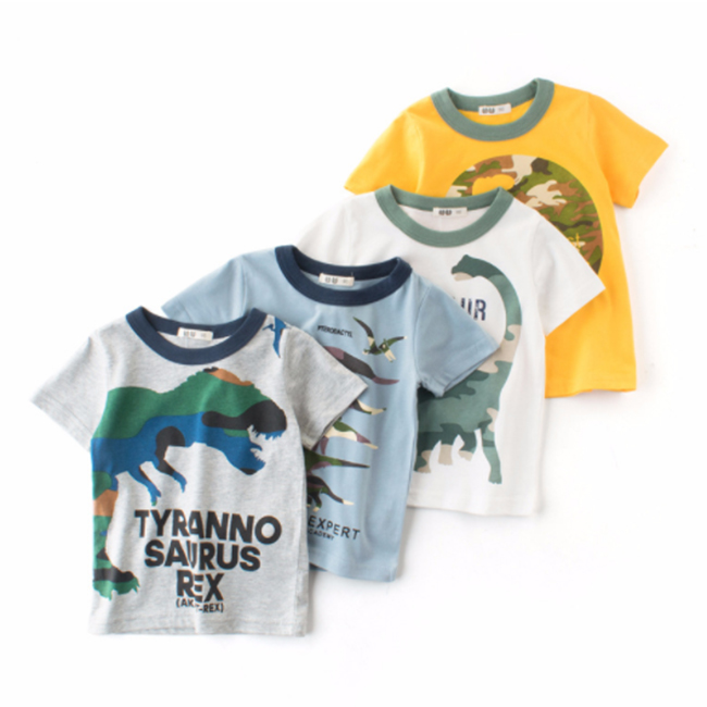 9cf0500ee Children Dinosaur Patterns Cheap T Shirt Printing Kid Boys Shirt ...