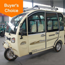 Electric bajaj three wheel taxi passenger tricycle/three wheel motorcycle taxi