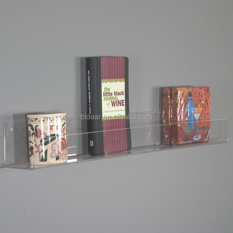 wall mounted acrylic book shelf wall mounted acrylic book shelf suppliers and manufacturers at alibabacom - Wall Hanging Book Shelf