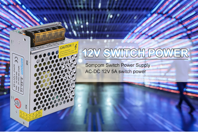 High Quality Sompom DC12V 2A 25W SMPS Switch Power Supply