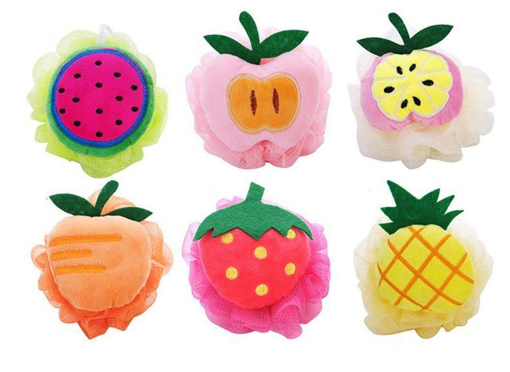 2X Da.Wa Fruit Shaped Bath Sponge Cute Shower Sponge Body Wash Tools