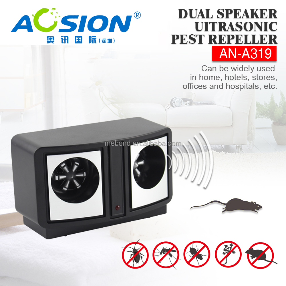 Aosion manufacturer cheap price Pest Repeller Speaker Dual Sonic Pest Repeller