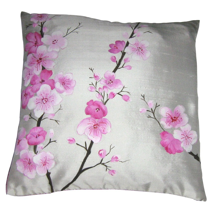 Floral ribbon embroidery cushion covers design