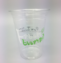 Custom printed clear transparent disposable PET plastic cup 350 ml plastic bottle with any size and any logo