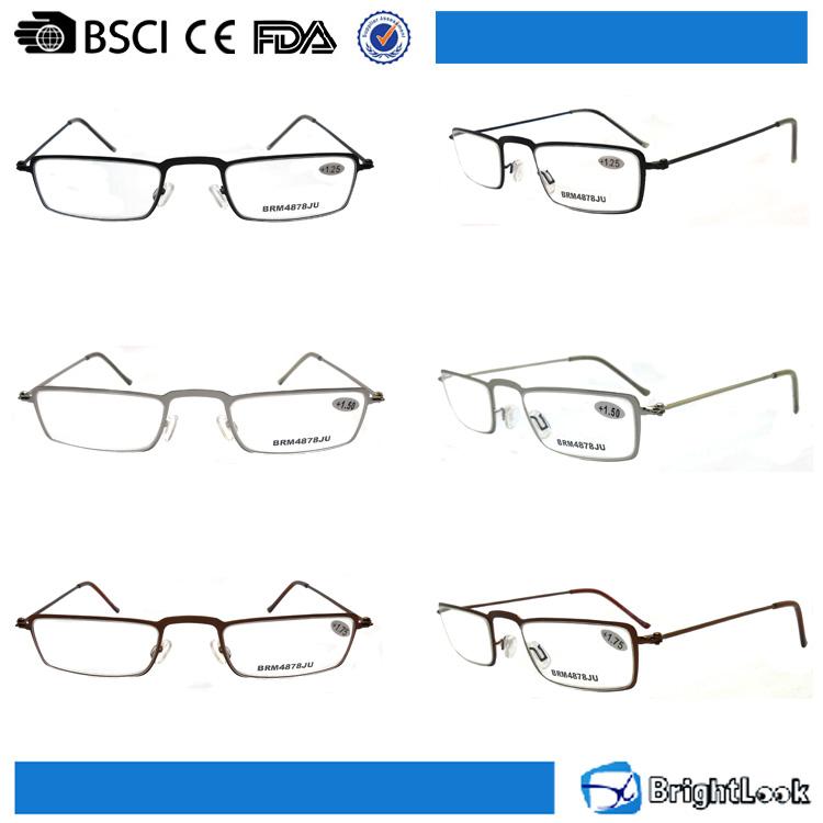 Mini lente transparente pequeño marco de metal ultra delgado gafas ...
