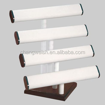 White Wood Bracelet Display Stand
