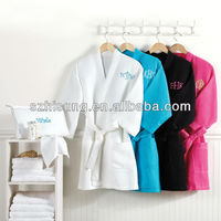 Cotton polyester waffle spa robes
