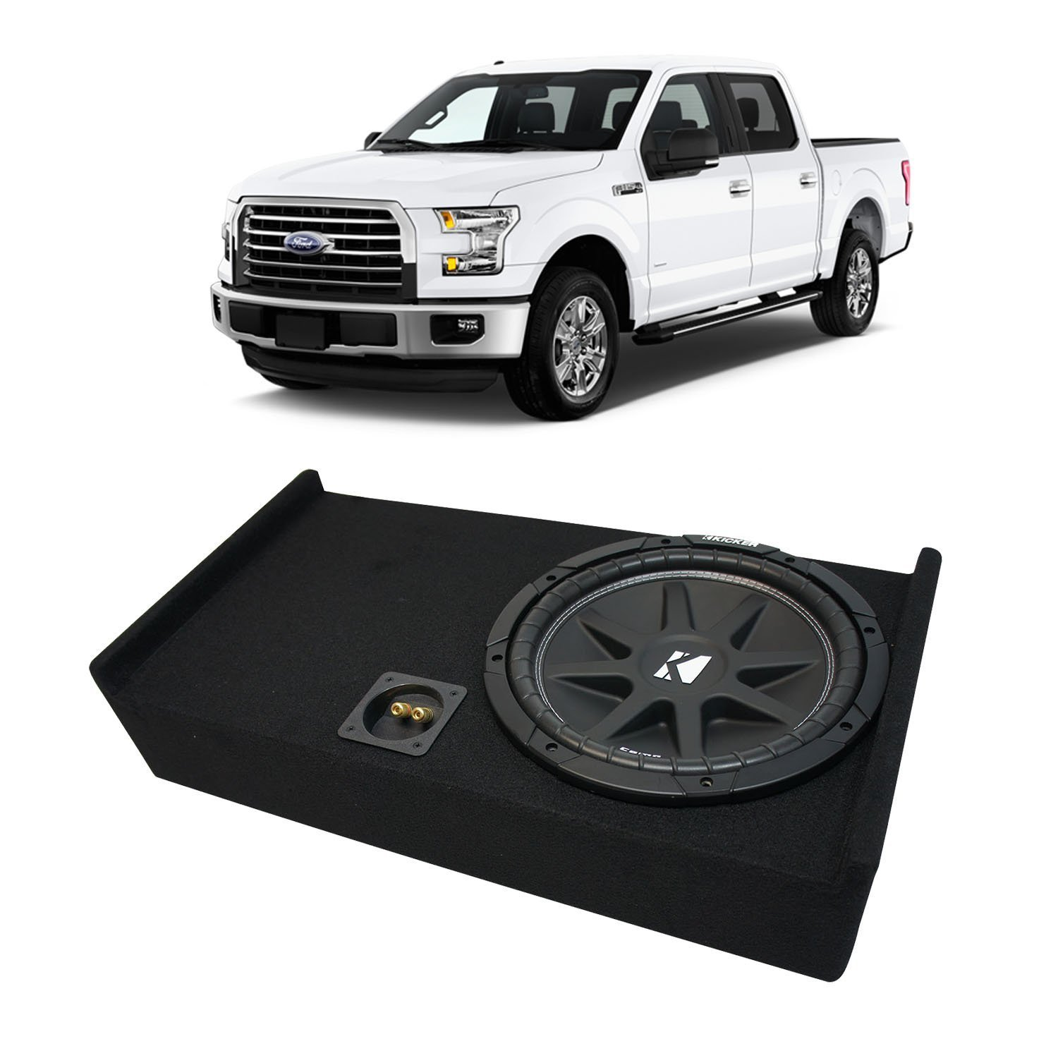 "Bbox 10/"" Down Subwoofer Enclosure for 1997-03 Ford F-150 Extended Cab Truck"