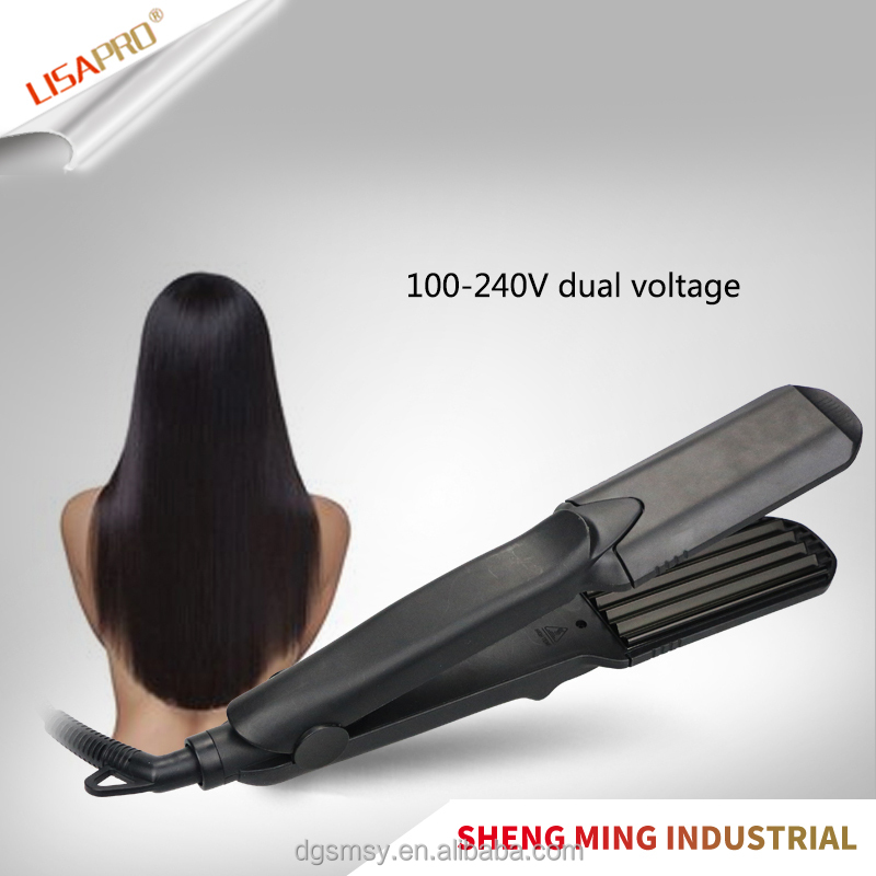 Flat & Wave Plates Hair Straightener Flat Iron Salon Use