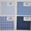 Blue new design dobby check woven fabric for shirt