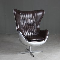 Spitfire Aluminium Leather Aviator Chair for Office