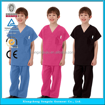 boy halloween costumekid lab coatchild scrub set - Halloween Scrubs Uniforms