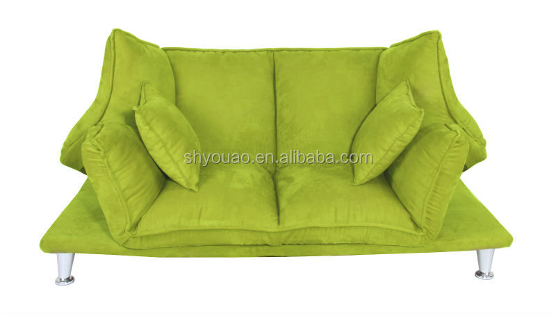 Lastest Top Quality Micro Suede folding chesterfield sofa With Metal Feet B153b