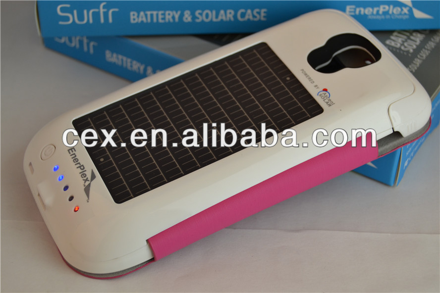 For Samsung Galaxy S4 i9500 New Arrival Emergency Solar Battery Case