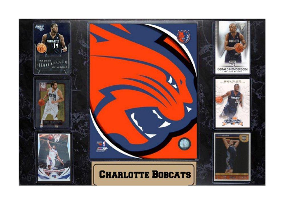 NBA Charlotte Bobcats 532-51 Six Card Plaque Sports Memorabilia, 13 x 27-Inch
