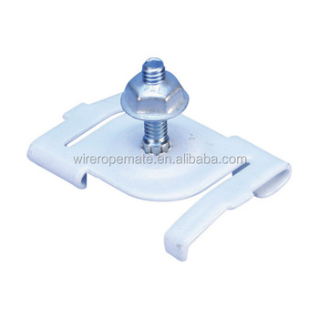 Oblong T Bar Clips White Suspended Ceiling Clip For Use
