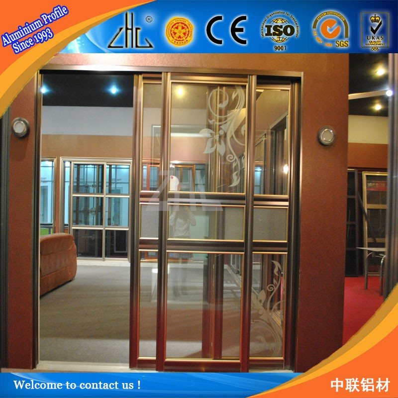 China Factory Directly Supply 3 Panel Sliding Glass Door Interior