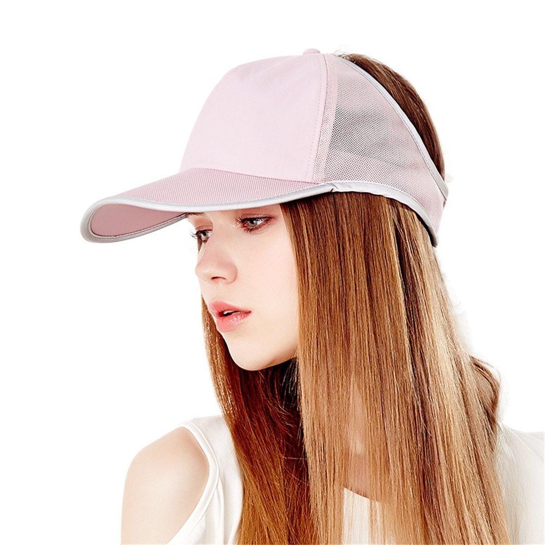 05ff35ae08623 Get Quotations · Kenmont Women s Summer Golf Cap Anti- UV Sun Hat Outdoor  Mesh Baseball Cap Topless Visor