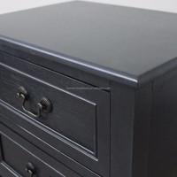 Indian handmade furniture teak wood living room cabinet bedside table 3 drawers cabinet