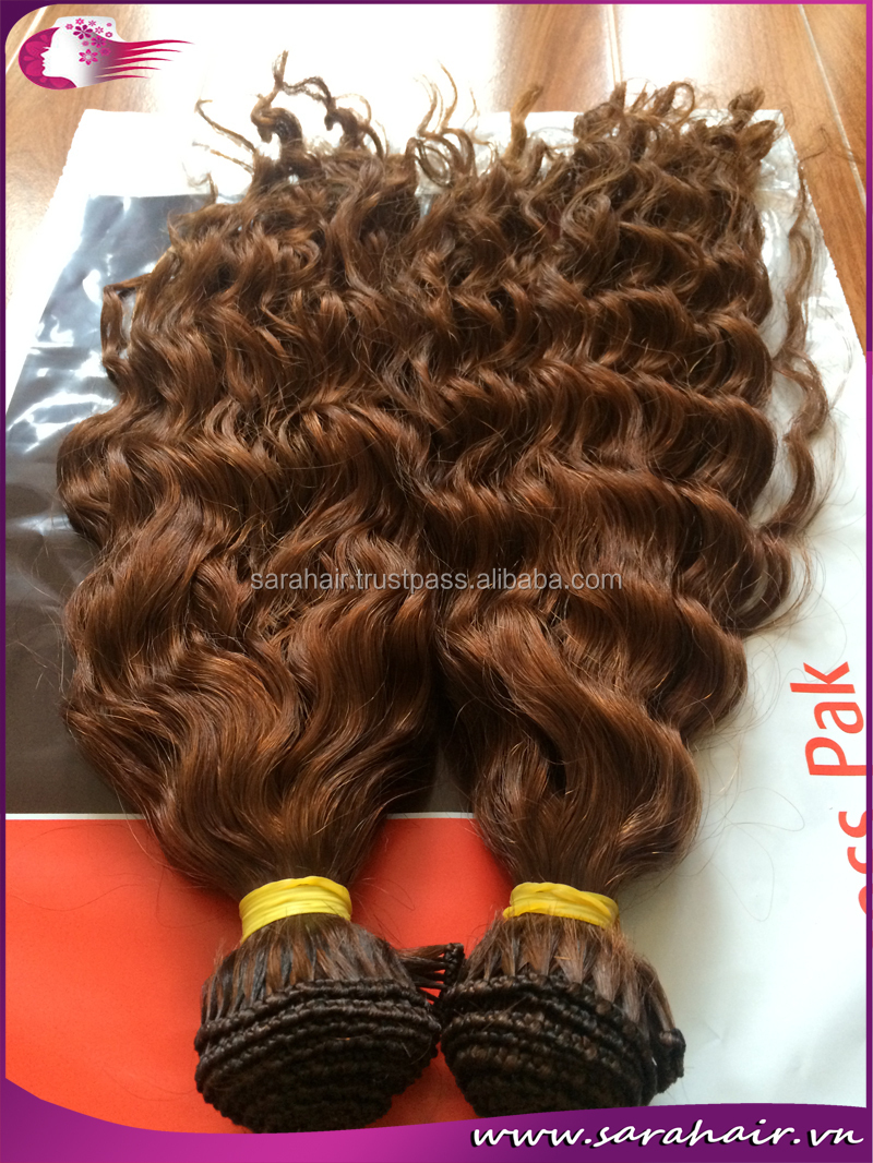 Hand Tied Weft Hair Extensions High Quality - No short hair inside. no dye, no lice, no nits