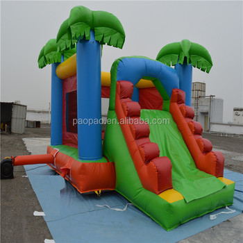 Best price inflatable bouncy combo/inflatable combo castle with slider K2062