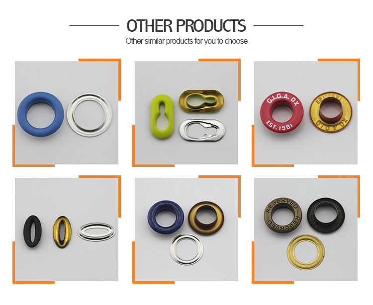 Factory professional metal oval eyelets for curtains