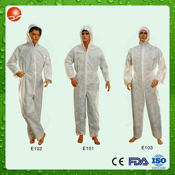 Brand new disposable cap and gown coverall waterproof made in China