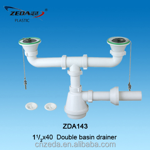 Double Sink Basin Drainer Siphon Bottle Trap And Waste Outlet Buy Bottle Trap For Sink Double Basin Drainer Kitchen Sink Drainer Sewer Product On Alibaba Com