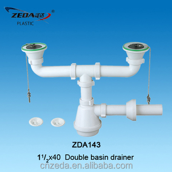 Double Sink Basin Drainer,Siphon Bottle Trap And Waste Outlet - Buy ...