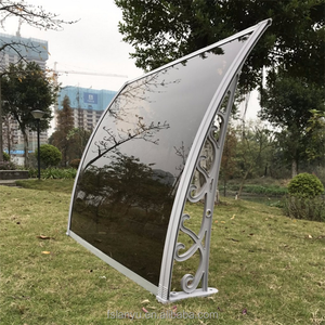 1200M*1200M solid polycarbonate fabric window awning with plastic bracket