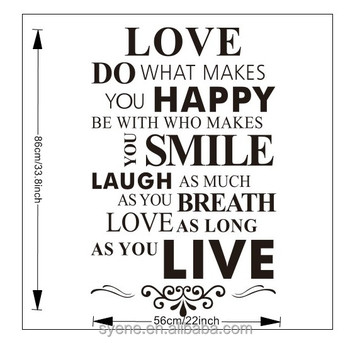 be228c18ea livingroom decorative wall sticker custom vinyl wall art quotes love do  what makes you happy lettering