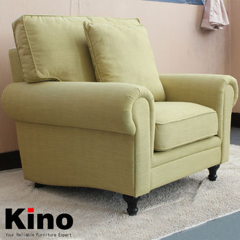 Modern European Style Single Seater Sofa High Quality Linen And Cotton  Fabric Armchair In Living Room