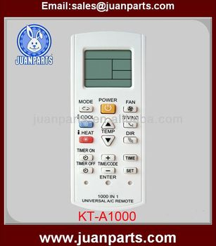 Kt-a1000 Universal Ac Remote Control Code - Buy Universal Remote Control  Code,Universal Remote Tv Codes,Universal Electronics Remote Codes Product  on