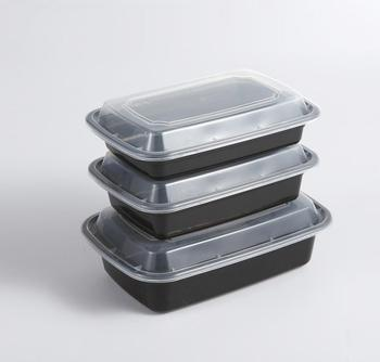 Easy Green Recyclable Microwave Fruit Food Packaging Containers Plastic Disposable Tray With Anti-Fog Lid
