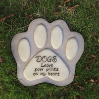 Outdoor Devotion Garden Stone Dog Paw Print Memorial Stone For Grave