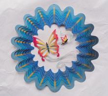 Wholesale low price 3D Butterfly metal Wind spinner