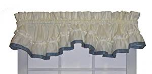Buy Lucy Country Style Ruffle Shaped Valance Curtain 3 Inch Rod