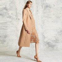 2016 Autumn Winter woolen garment customized woman's wear fashion maxi long coats wholesale parkas outwear