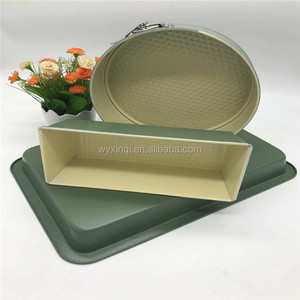 3pcs Non-stick Cake Pan Baking Bakeware Mold Mould Set with Round & Long & Square Shaped Tool