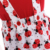 Baby clothes kid clothing summer red short sleeves top ladybug print skirt baby girl outfit