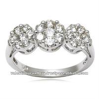 Pressure set Diamond Rings, White Diamond Ring, Diamond jewelry ring