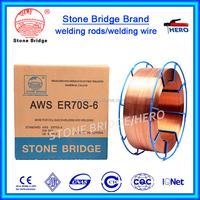 Bright copper CO2 gas shielded welding wire ER70S-6