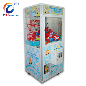 Most beautiful prize crane catch game machine with Single claw for sale