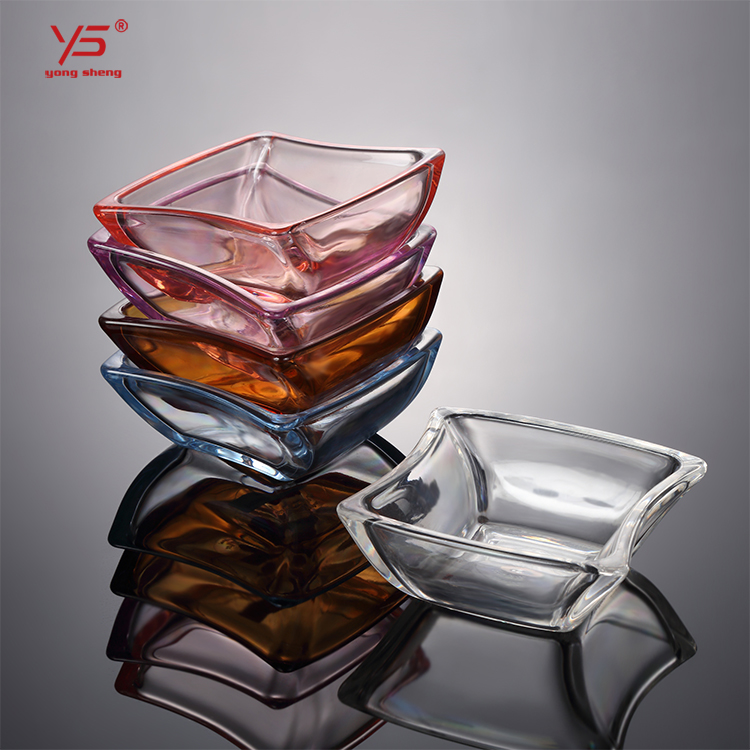 Multi color buy online tableware plastic dish transparent pc <strong>plate</strong> snack bowl candy square clear <strong>plates</strong>