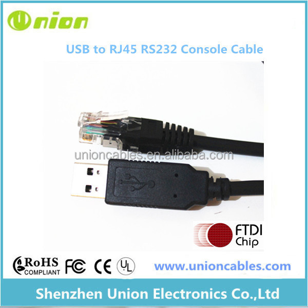 USB to RJ45 RS232 Serial Cable FTDI Chipset Console Rollover Router Cable Cisco
